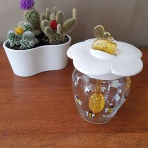 Renga glass honey bowl dish ja
